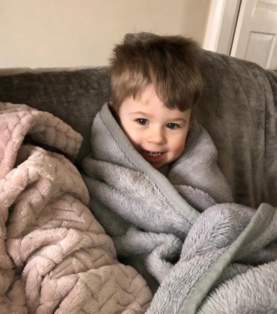 Freddie in a blanket